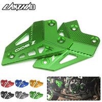 CNC Aluminum Motorcycle Footrest Guard Passenger Foot Protector Plate Pair Green Black Blue Red Gold for Kawasaki Z900 2017 2018