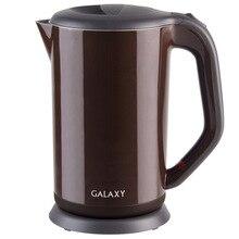 Чайник электрический Galaxy GL 0318 КОРИЧНЕВЫЙ (Мощность 2000 Вт, объем 1.7 л, автоотключение при закипании и отсутствии воды, корпус из нержавеющей стали, термоизолированный корпус, вращение 360°)