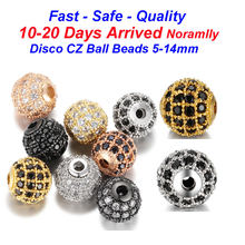 Spacer Charm Micro Pave Cubic Zirconia Beads 8mm and 10mm DIY Jewelry Making Accessories Wholesale Charms(China)