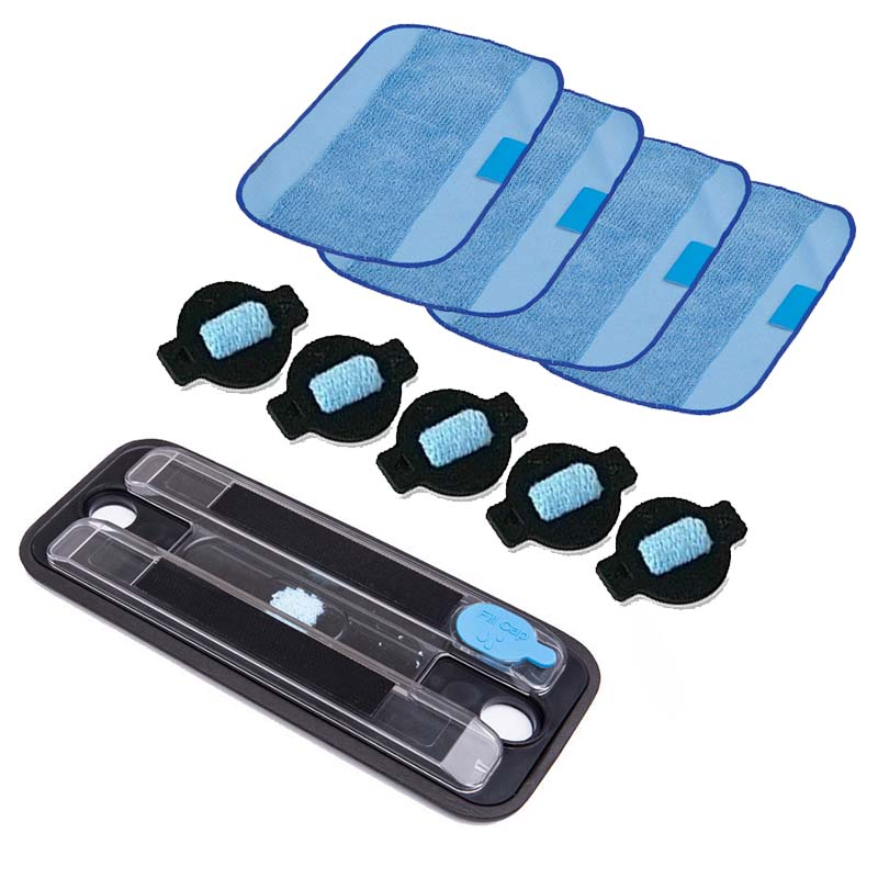 1 Pcs Wet Tray&4 Pcs Pro Clean Mopping Cloths&5Pcs Water Wick Cap For Braava 380 380T 5200 Mint 5200C 4200A 4205 Cleaning