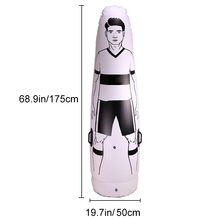 1.75m Adult Inflatable Football Training Goal Keeper Tumbler Air Soccer Train Dummy Tool BHD2