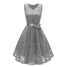 Women Short Evening Dress New Arrival Lace V Neck Evening Gowns Sexy formal dress Bow party dresses 2017 new arrival gray sleeveless autumn dresses women knitted evening party sexy dress bodycon girls short pencil vestidos s076