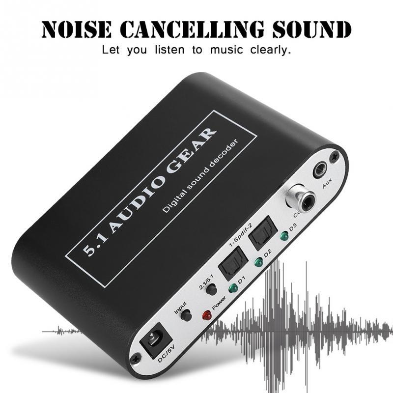 Digital-analog-wandler Unterhaltungselektronik Noise Cancelling Dts Decoder Optische/coaxial Signal/analog Zu 5,1/2,1 Analog Dts Audio Decoder Für Mp3 Ac3 Dts Decoder Neue Direktverkaufspreis