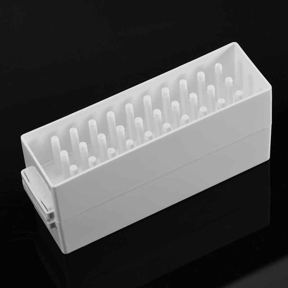 ABS 30 Holes Tool Box Nail Art Drill Grinding Head Bit Display Storage Rack Manicure Tools Case New