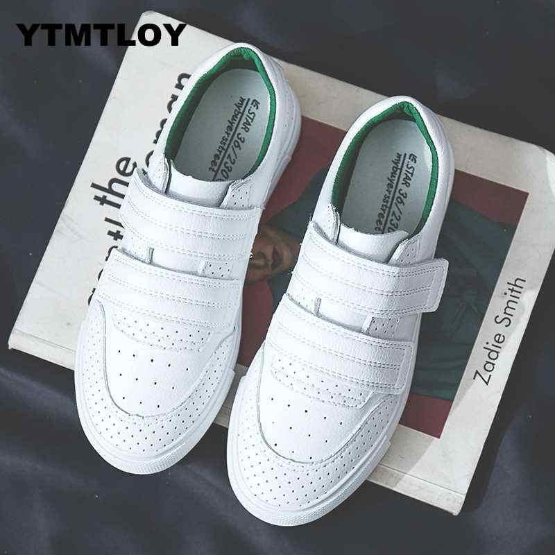 HOT Vrouwen Sneakers Mode Breathble Gevulkaniseerd Schoenen Platform Lace up Casual Wit Tenis Feminino Zapatos De Mujer Pu lederen 8
