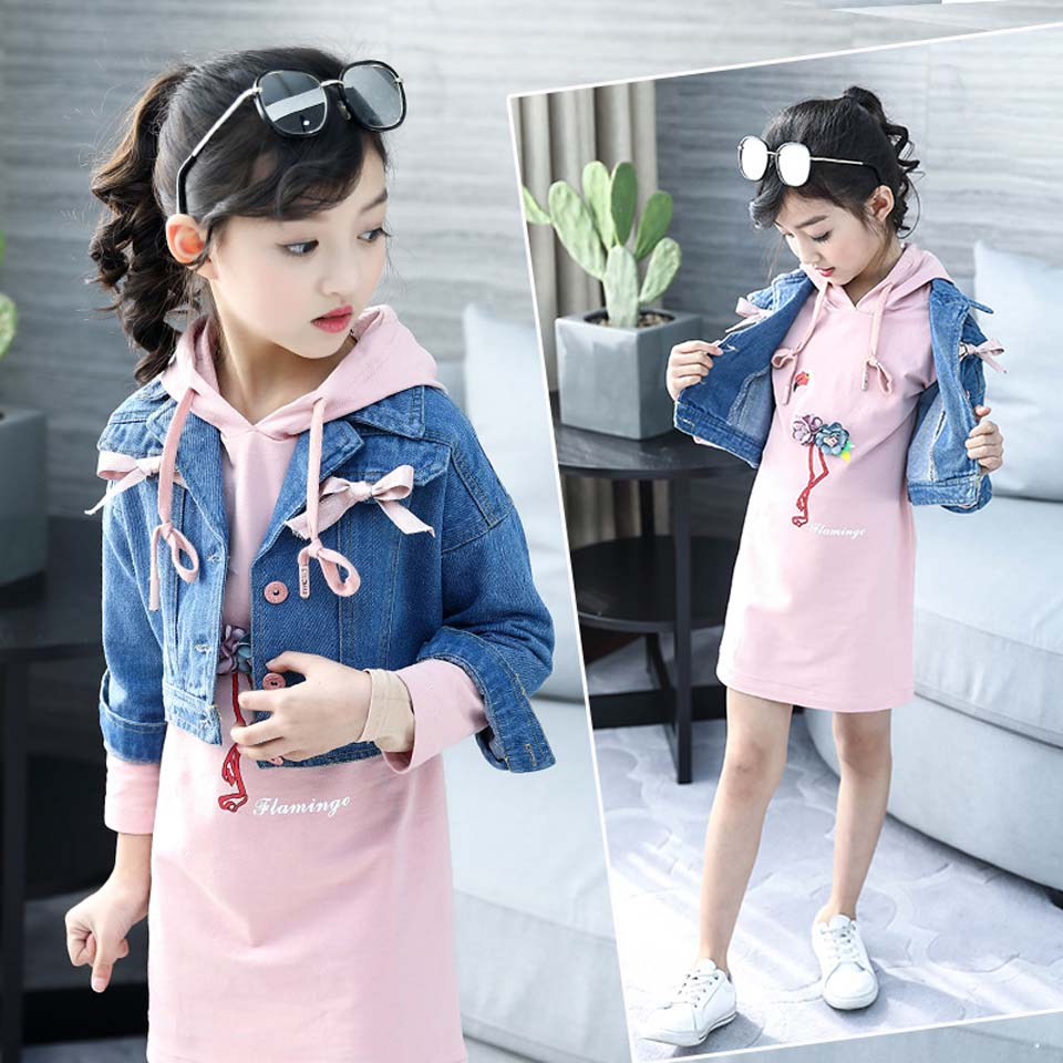 2019 Fashion Girls Clothes Children Baby Kids Spring Tops Jackets + Long Casual Hoodies Outfits 2 PCS Set Tutu Skirt Super Hot2019 Fashion Girls Clothes Children Baby Kids Spring Tops Jackets + Long Casual Hoodies Outfits 2 PCS Set Tutu Skirt Super Hot