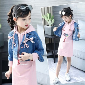 2019 Fashion Girls Clothes Children Baby Kids Spring Tops Jackets + Long Casual Hoodies Outfits 2 PCS Set Tutu Skirt Super Hot