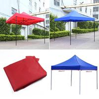 2.9*2.9m Folding Waterproof Marquee Shade Tent Canopy Gazebo Anti UV Tent for Outdoors Market Blue/Red Shade