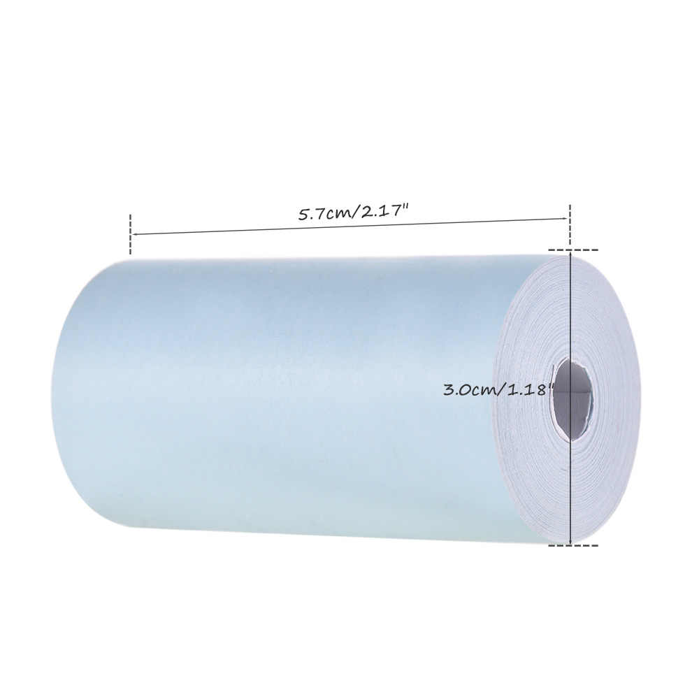 Rollo de papel térmico 57*30mm impresión clara para impresora térmica de bolsillo PeriPage A6 para Mini impresora fotográfica PAPERANG P1/P2