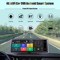 4G 1080P Dash Cam WiFi GPS Car Camera Dual Lens Car DVR ADAS Android 5.1 Video Recorder Registrar With Rearview Rear View Camera