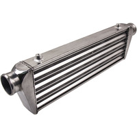UNIVERSAL INTERCOOLER 27x7x2.5 Tube and Fin 2.5 Inlet/Outlet Recommend for Audi Jetta for GTI Lancer