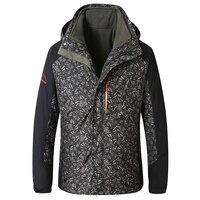 8XL 7XL 6XL Для мужчин зима 3 в 1 внутренний флис комплект из 2 предметов Куртка для открытого воздуха теплые Водонепроницаемый ветрозащитный Спо