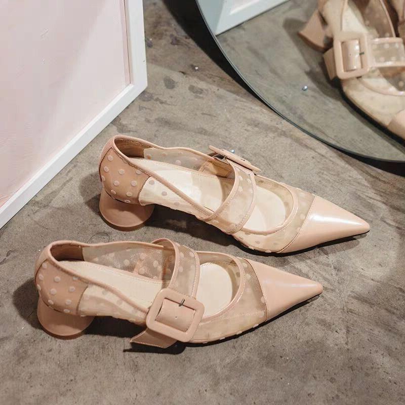 Pic Sexy Pumpen Pic Silber Frauen Schuhe Marke Runde Mesh Schnalle Gürtel Med As Air Ferse Hochzeit Kleid as Design Party XqT5qH