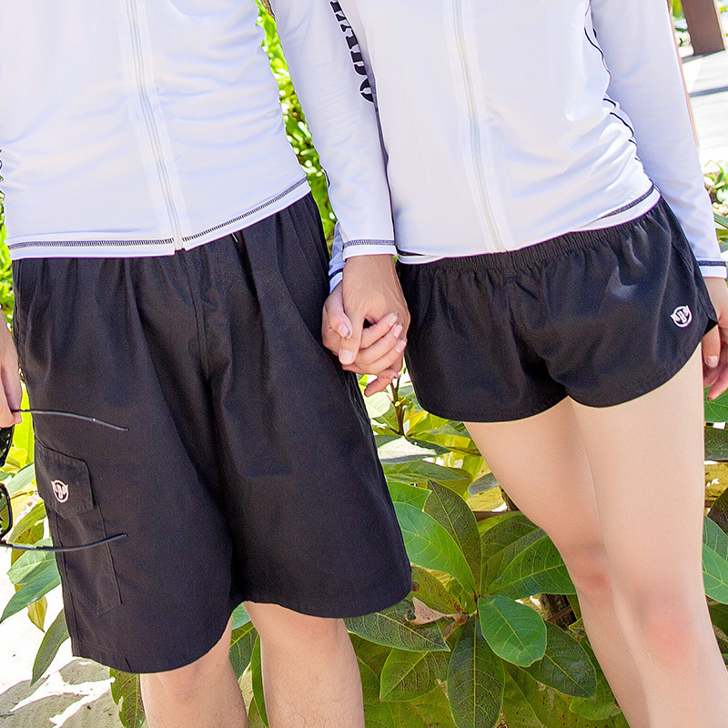Board Shorts Couple Swimsuit Swimming Shorts Swimwear Women Quick Dry Boardshorts Lovers Men Beach Surf Short De Bain Femme