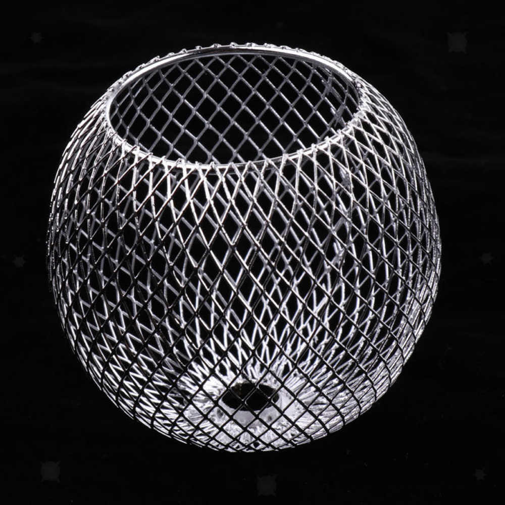1PC Bulb Cage Metal Chandelier Lampshade Table Lamp Pendant Light Shade Iron Circular decorative lampshade Home Accessory