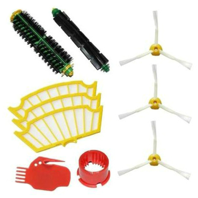 Hand Tool Parts Sweeper Accessories 5 Series Rubber Brush Mesh Triple-cornered Brush Cleaner Set Robot Accessories For Irobot Se Home Appliance Parts Vacuum Cleaner Parts
