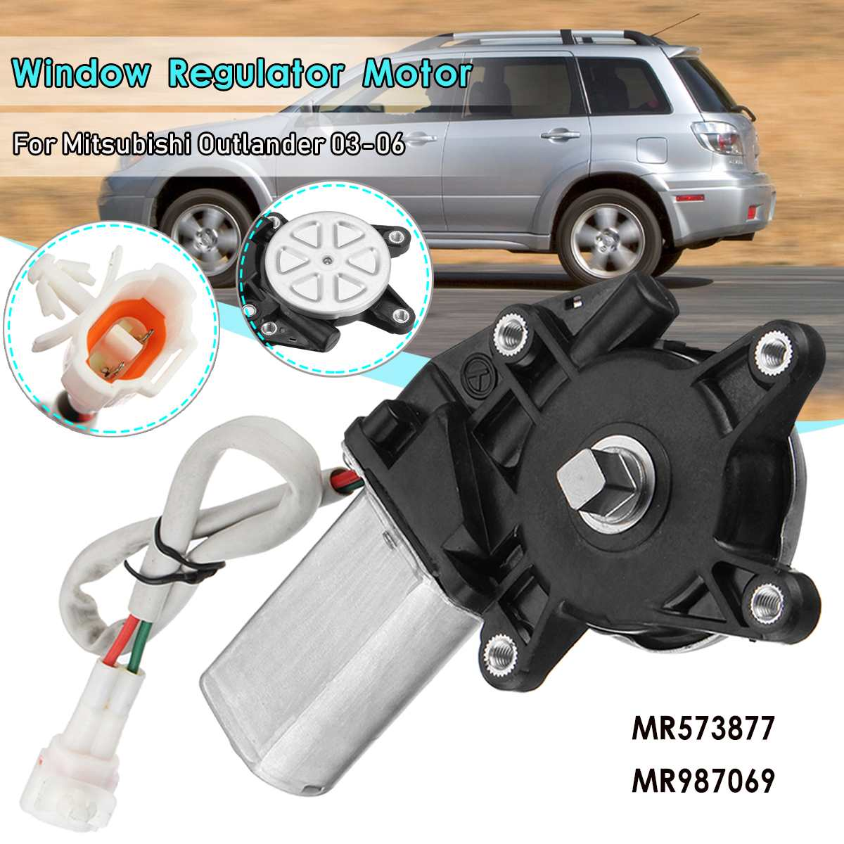 MR573877 Front Left Window Regulator Motor For Mitsubishi Outlander 2003 2006 2004 2005