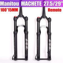 Manitou мачете Comp 100*15 мм 27.5er 29 Инче Велосипедный спорт вилы air размеры Mountain Велосипедная вилка MTB Передняя подвеска MARVEL COMP PRO через