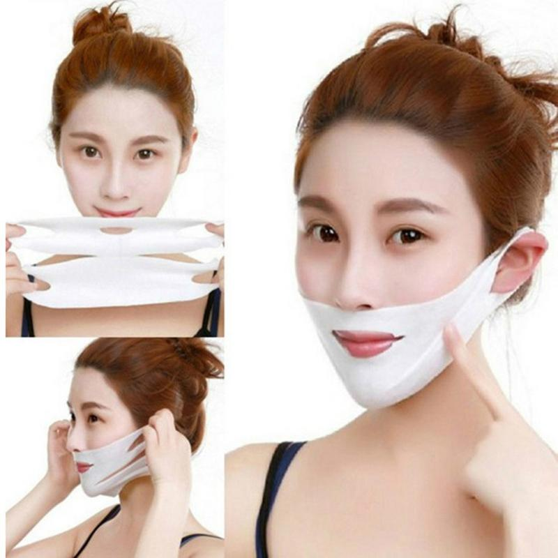 4D Double V Face Hanging Ear Face Paste Hydrogel Mask Lifting Firming Thin Masseter Double Chin Mask V Shape Face Care Slim Mask