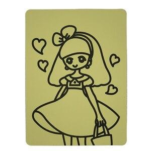 Image 2 - Ücretsiz kargo 2000 adet/lot kartları Renkli Kum için art_15x21cm sıcak satış