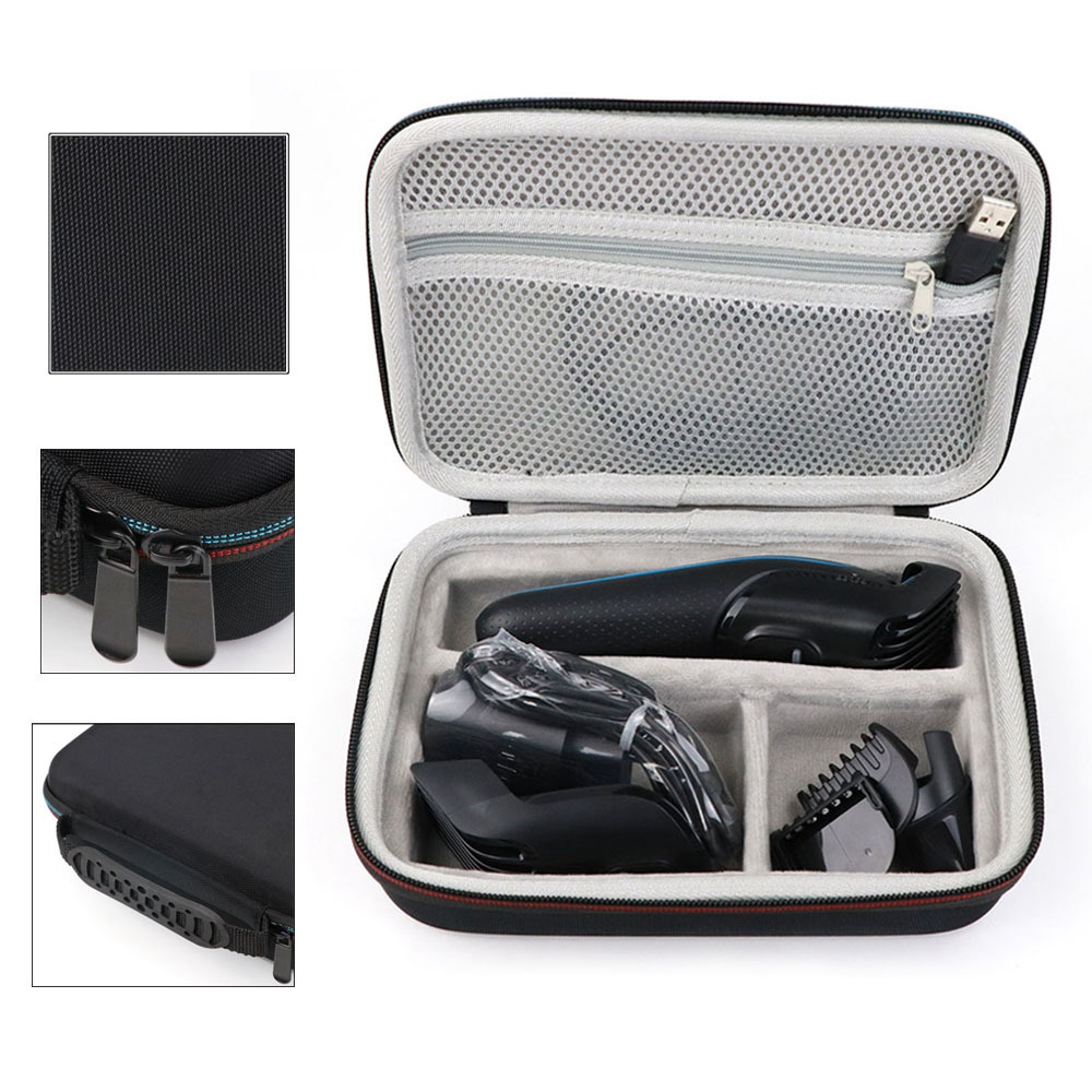 Hair Clipper Storage Case Carrying Case Shockproof Bag Shaver Kit Eva Hard Case Storage Bag For Braun Mgk3020/3060/3080