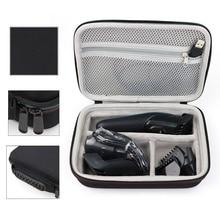 лучшая цена Hair Clipper Storage Case Carrying Case Shockproof Bag Shaver Kit Eva Hard Case Storage Bag For Braun Mgk3020/3060/3080