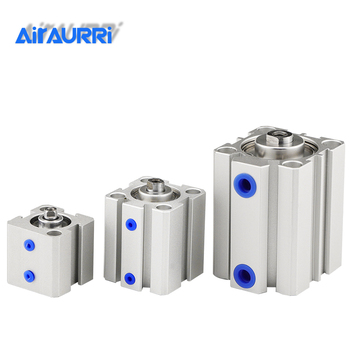 цена Air Cylinder SDA series Pneumatic Compact airtac type 16 20 25 32 40 50 63mm Bore to 5 10 15 20 25 30 35 40 45 50mm Stroke онлайн в 2017 году