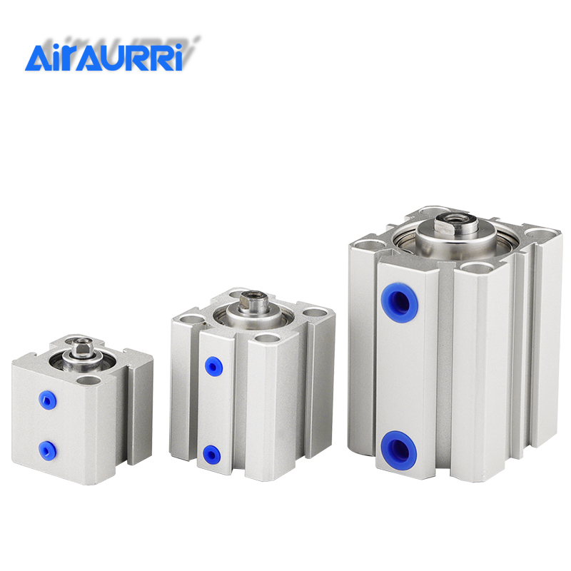 air Cylinder SDA series Pneumatic Compact airtac type 16 20 25 32 40 50 63mm Bore to 5 10 15 20 25 30 35 40 45 50mm Stroke image
