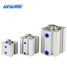 air Cylinder SDA series Pneumatic Compact airtac type 16 20 25 32 40 50 63mm Bore to 5 10 15 30 35 45 50mm Stroke