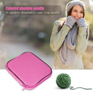 Image 3 - 13 Pairs Aluminum Circular Knitting Needles Ring Set Change Head Knitting Needles DIY Knitting Tools Sewing Accessories