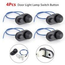 Car Switches & Relays 4pcs Universal Auto Interior Door Light Lamp Switch Button 5 x 2.5cm Black