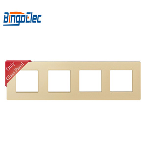 Image 3 - Drie Kleur Vier Socket Frame, Kristal Gehard Glas Frame, 86*299 Mm,