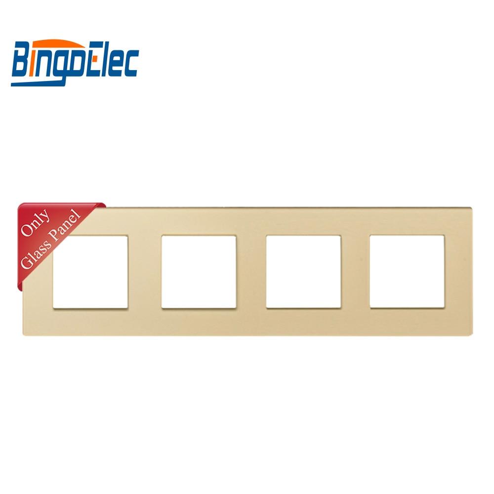 Image 3 - Three color four socket frame,crystal toughened glass frame,86*299mm,socket framecolor socketframe frame -