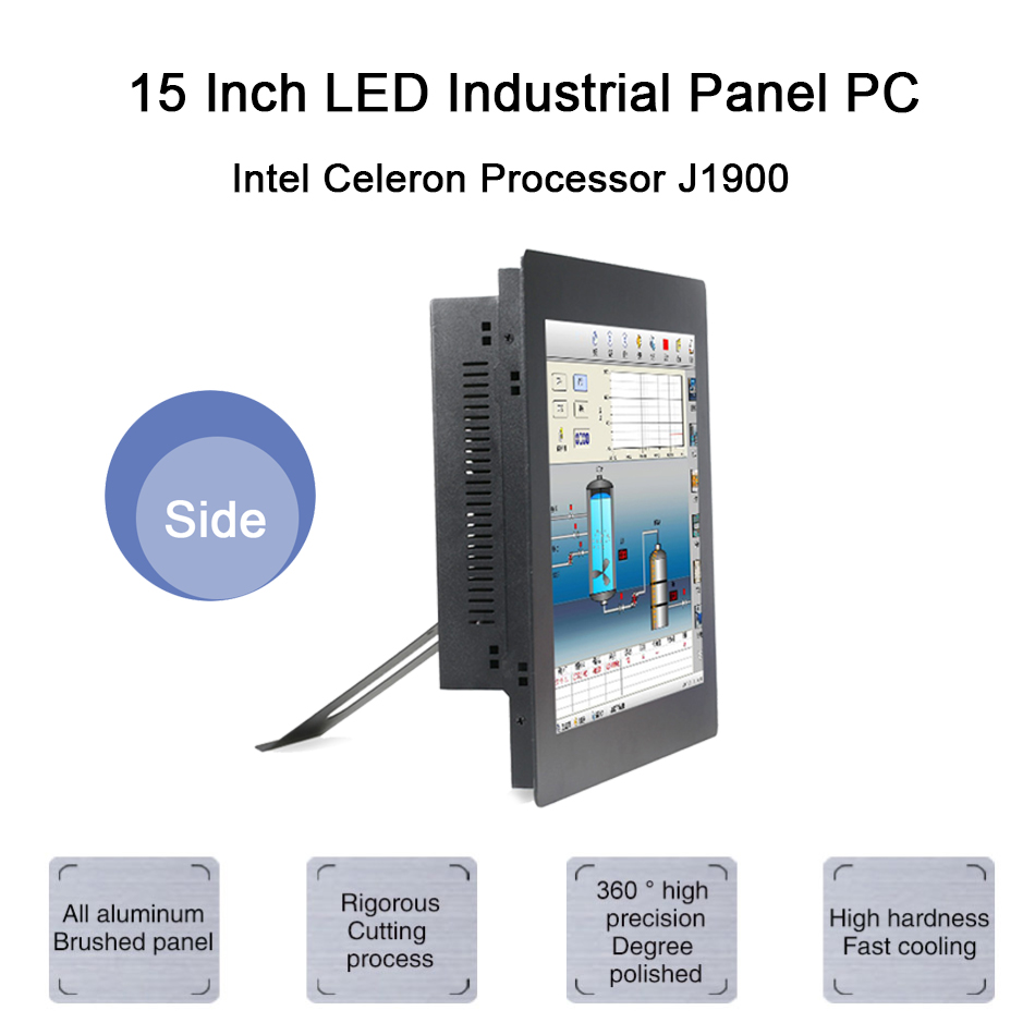 15 Inch LED Industrial Panel PC,Intel Celeron J1900,Windows 7/10/Linux Ubuntu,Taiwan 5 Wire Touch Screen,[HUNSN DA09W]