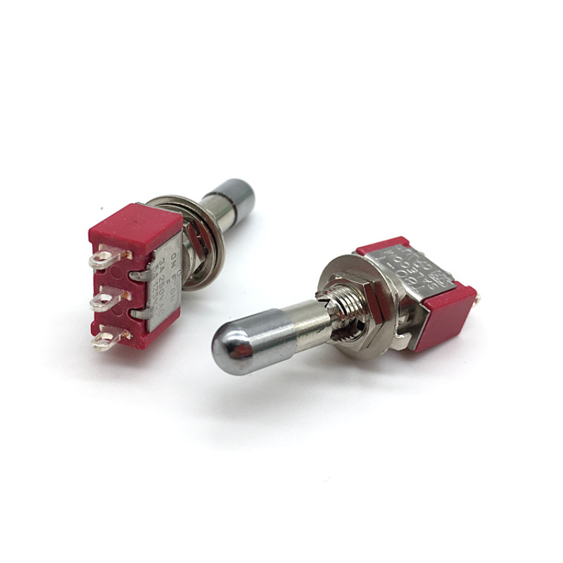Lot Of 3 T8012 On Off On 6 Pin Mini Toggle Switch