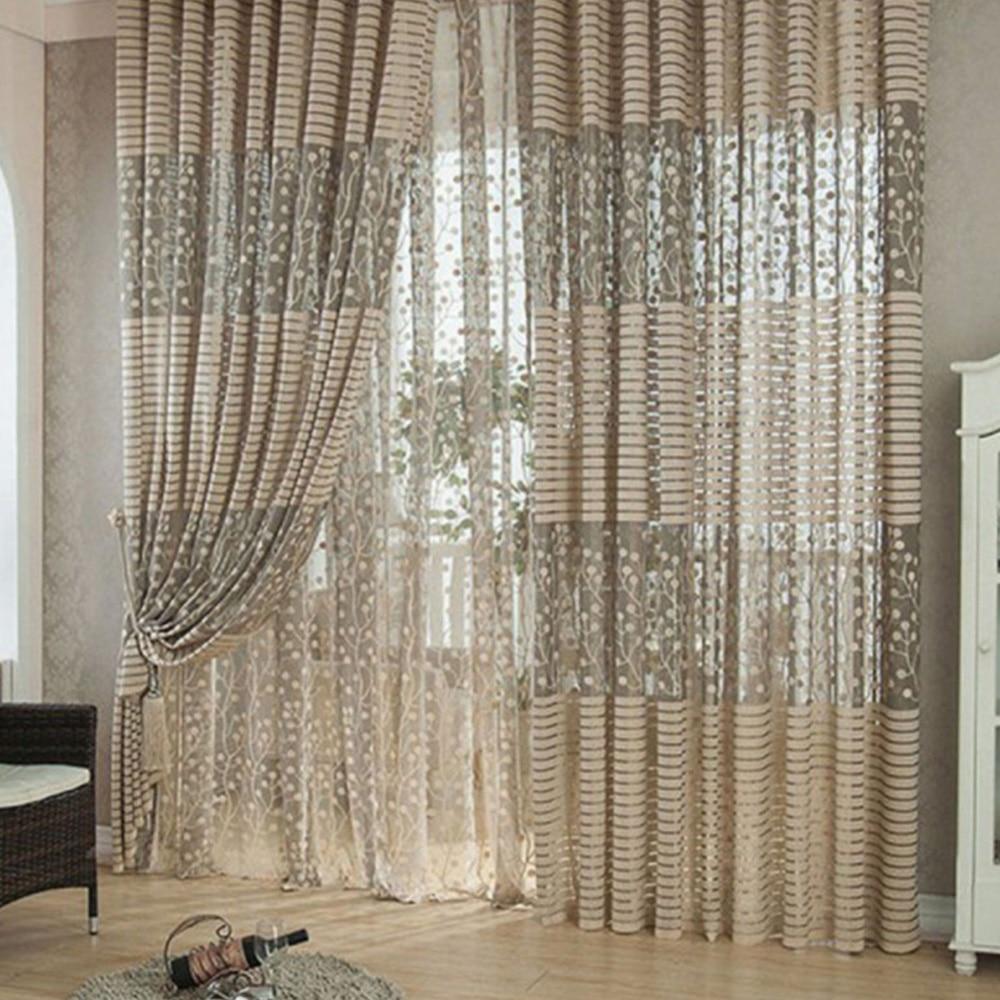 1*2,7 M Haushalt Baum Muster Tür Fenster Gaze Vorhang Für Wohnzimmer Schlafzimmer Elegantes Und Robustes Paket
