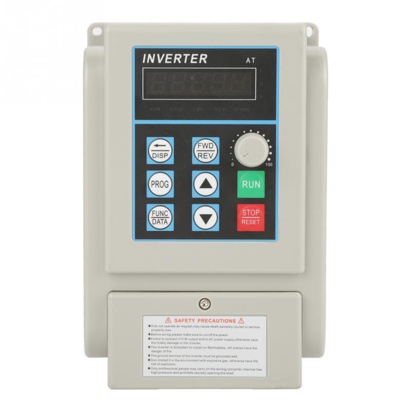 Convertisseur monophasé variateur de fréquence VFD régulateur de vitesse PWM inverseur de contrôle pour 3 phases 4kW AC moteur 2019 nouveau