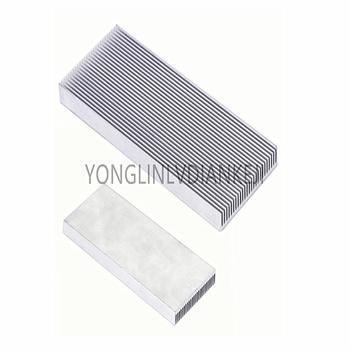 2 sztuk 100x41x8mm grzejnik aluminiowy radiator taśmy pamięci radiator do komputera wzmacniacz led tranzystory IC tanie i dobre opinie 30x30x10mm YONGLINLVDIANKEJI Aluminium Karta graficzna 41*8-100