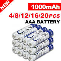 4-20pcs AAA 1.2V 1000mAh Ni-MH Rechargeable Battery Rechargeable Batteries cells for toys