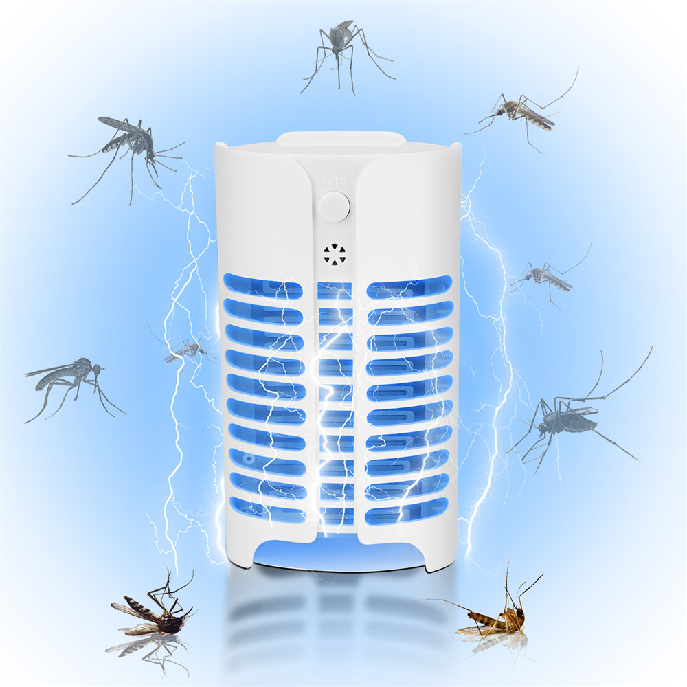 Most Powerful Indoor Insect Killer Plug-In Bug Zapper Electric Mosquito Killer Lamp With Light Sensor Perfect For Indoor Pest A