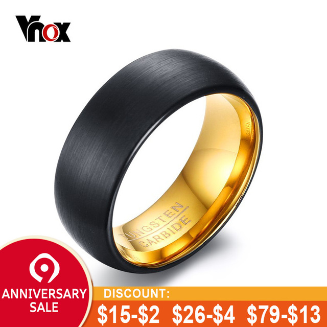 Us 895 45 Offvnox 8mm Black Matt Surface Tungsten Rings For Men Bridegroom Wedding Band Jewelry Engraved Tungsten Carbide Male Casual Bijoux In