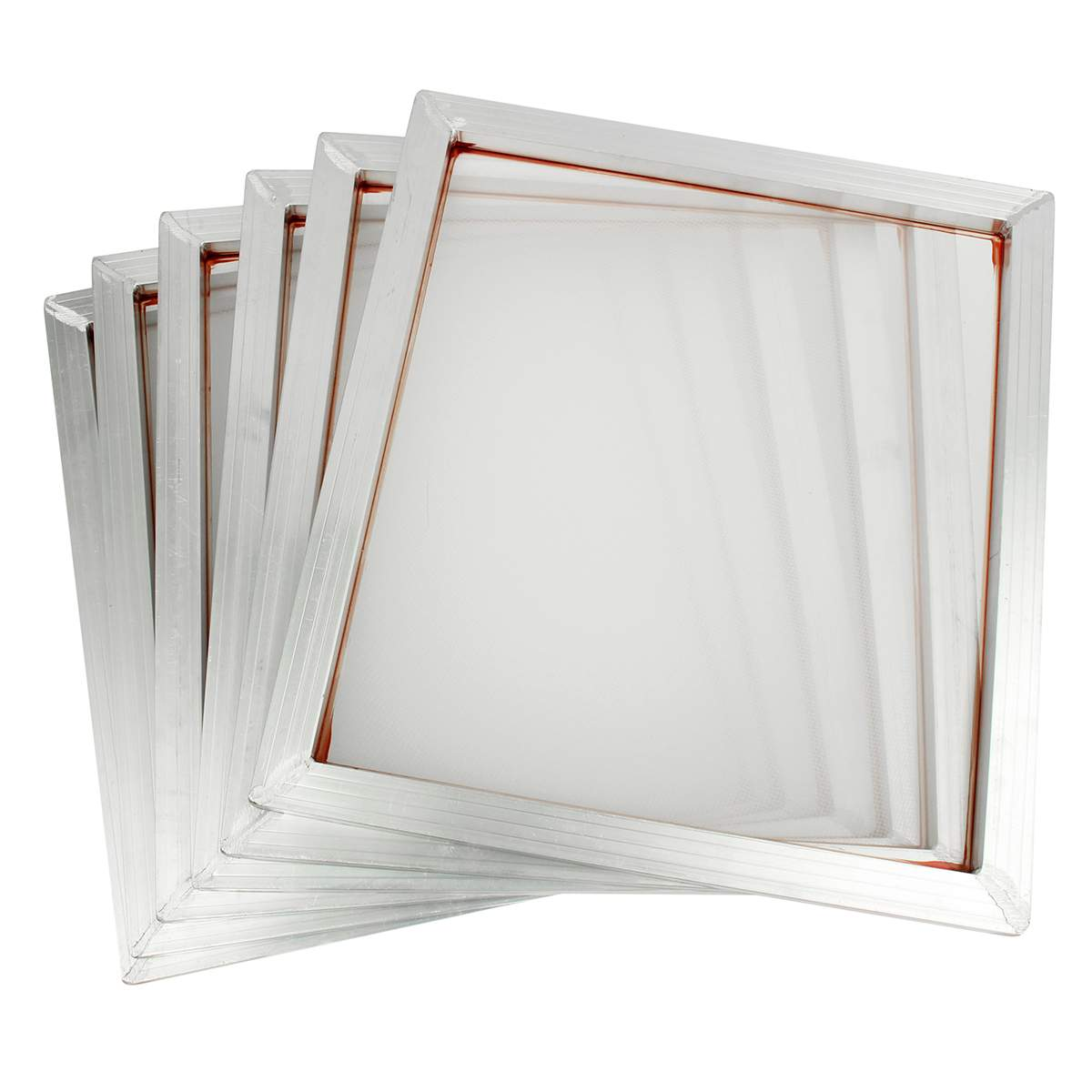 6Pcs 45x50cm Aluminum Frame Silk Screen Printing Press Frame 110 White Mesh Count For High-precision Printed Circuit Boards