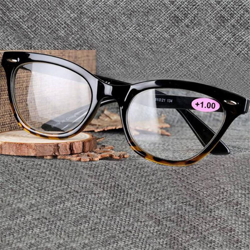 1,5 Bis ZuverläSsig Presbyopie Brille Frauen Katze Augen Schwarz Lesen Spiegel Kunststoff Material Volle Rahmen Teleskop 1,0 3,5 R132 Oculos