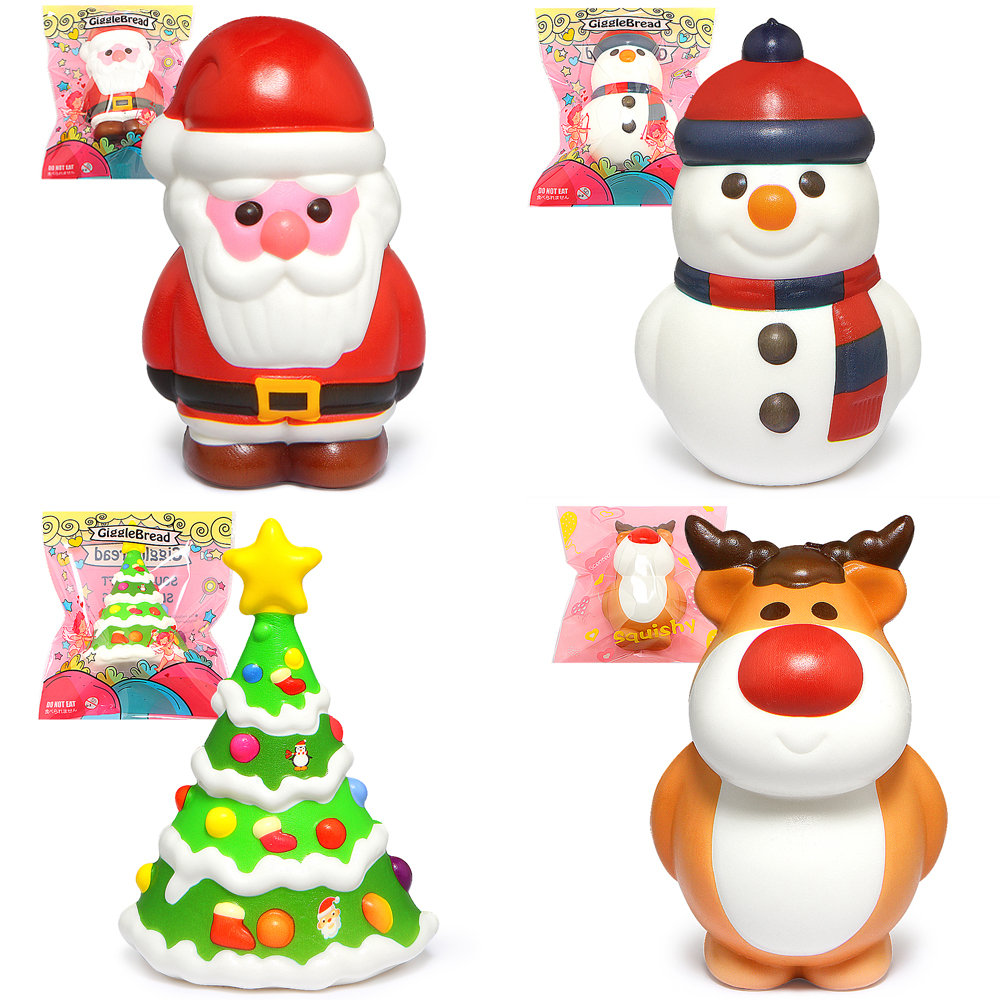 Christmas Squishy Cute Squishies Slow Rising Cream Scented Stress Relief Toy Kids Gift