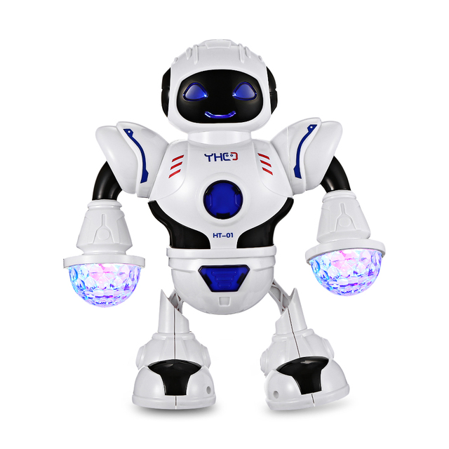 Kids Electronic Smart Space Dancing Robot With Dynamic Music And Colorful LED Light Arm-Swing / Walk / Dance Robot Gift For Kids
