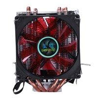 LANSHUO 4 Heat Pipe 4 Wire With Light Three Fan Cpu Fan Radiator Cooler Heat Sink For Intel Lga 1155/1156/1366 Cooler Heat Sin