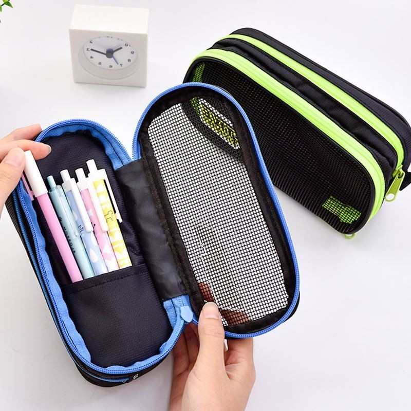NOVERTY High Quality Big Pen Canvas Multifunction Boys Cute Pencil Case Stationery Storage School Pencil Box Pen Bags 04854