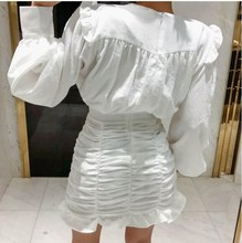 Bandage Dress Women O Neck Sexy Dresses 2019 Ruched Wrap Mini Summer Vestidos