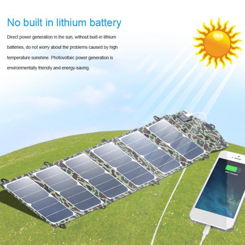 ALLOYSEED panneau de cellules Camouflage 40 W Portable pliable chargeur de batterie solaire pliable accessoires pour téléphone Portable chargeur solaire
