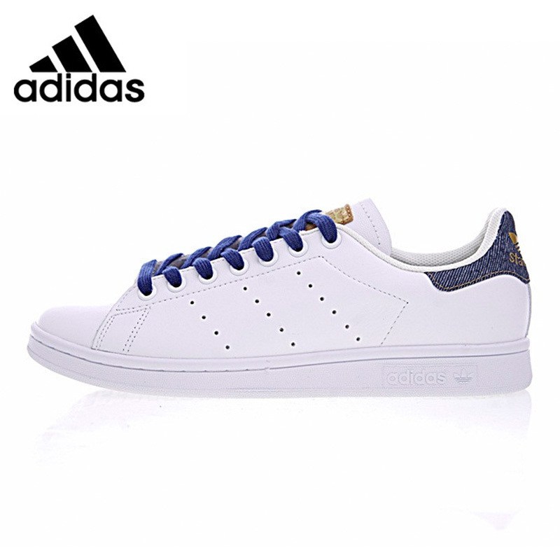Adidas Stan Smith Men's Non-slip Shoes White Shock-absorbing